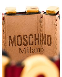 Moschino   Metallic Logo Plaque Bracelet   Lyst