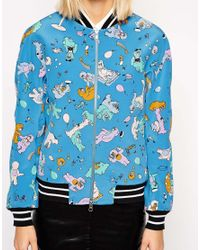 Antipodium - Cry Baby Bomber In Blue Picnic Print - Lyst