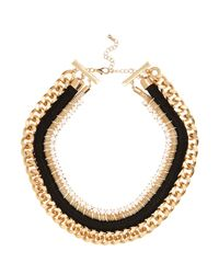 River Island | Yellow Gold Tone Tribal Woven Chain Necklace | Lyst