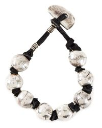 Henson | Black Bead And Knot Bracelet | Lyst