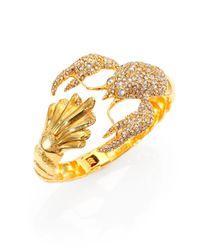 Alexis Bittar | Metallic Pave Crystal Lobster Cuff Bracelet | Lyst