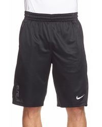 Nike | Black 'elite Powerup' Dri-fit Basketball Shorts for Men | Lyst