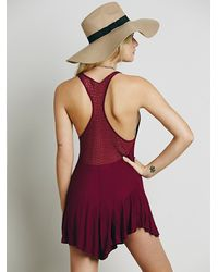 Free People | Red Fp X Womens Heritage Playsuit | Lyst