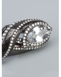 Garrard | Metallic Double Finger Ring | Lyst
