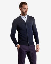 Ted Baker - Gray Sprayed Ombré Cardigan for Men - Lyst