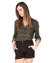Vero Moda - Green Shirt / Blouse - Lyst