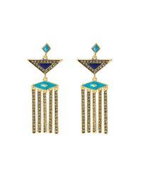 House of Harlow 1960   Blue Aegean Treasure Earrings   Lyst