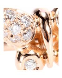 Roberto Marroni - Metallic 18kt Rose Gold Butterfly Ring With White Diamonds - Lyst
