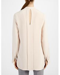 JOSEPH | Natural Matt Silk Ange Blouse | Lyst