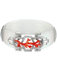 Alexis Bittar | Pink Enamel Studded Bedarra Hinge Bracelet | Lyst