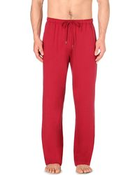 Derek Rose | Red Basel Jersey Pyjama Bottoms for Men | Lyst