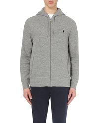 Pink Pony | Gray Logo-embroidered Cotton-jersey Hoody for Men | Lyst