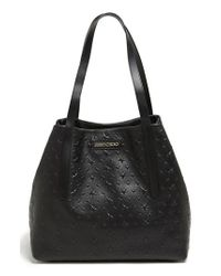 Jimmy Choo | Black 'sara' Star Embossed Tote | Lyst