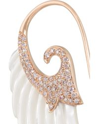 Noor Fares - White Wing 18-Karat Rose Gold, Mother Of Pearl And Diamond Earrings - Lyst