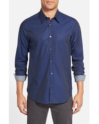 Ted Baker | Blue 'brunor' Extra Trim Fit Check Sport Shirt for Men | Lyst