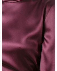Dolce & Gabbana - Pink High Standing Collar Blouse - Lyst