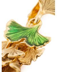 Aurelie Bidermann - Metallic Ginkgo Clip-on Earrings - Lyst