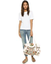 Shashi | White Nala Carryall Bag - Natural | Lyst