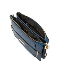 Dune | Blue Emma Double Pouch Clutch Bag | Lyst