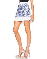 MSGM - Blue Applique Cotton-blend Skirt - Lyst