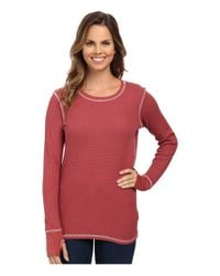 Allen Allen - Purple L/s Thumbhole Tee Thermal Crew - Lyst