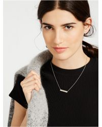 BaubleBar | Metallic Monogram Bar Necklace | Lyst