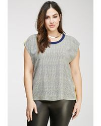 Forever 21 - Multicolor Plus Size Abstract Cutout-back Top - Lyst