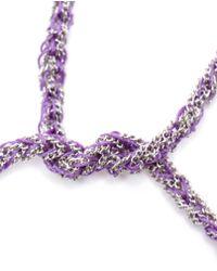 Carolina Bucci | Purple Woven White Gold And Silk Friendship Bracelet | Lyst