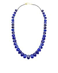 Me&Ro | Blue Graduated Lapis Bead Necklace | Lyst