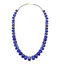 Me&Ro | Blue Graduated Lapis Bead Necklace | Lyst