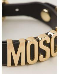 Moschino - Metallic Logo Letters Bracelet - Lyst