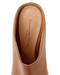 Gianvito Rossi - Brown Point-Toe Leather Mules - Lyst
