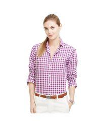 Ralph Lauren Golf | Purple Gingham Cotton Shirt | Lyst