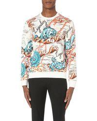 Alexander McQueen - Multicolor Creature-print Cotton Sweatshirt for Men - Lyst