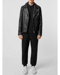 SELECTED - Black Long Sleeve Polo Shirt for Men - Lyst