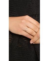Shashi - Metallic Circle Ring Rose Goldclear - Lyst