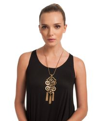 Trina Turk | Metallic Long Pendant Necklace | Lyst