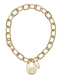 Michael Kors | Metallic Mkj4637710 Ladies Padlock Necklace | Lyst