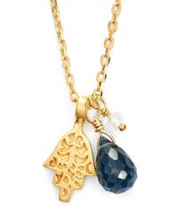 Satya Jewelry | Blue Cluster Pendant Necklace | Lyst