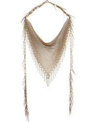 Isabel Marant | Metallic Gold-Tone Fringed Chainmail Necklace | Lyst