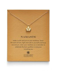 Dogeared | Metallic 'Reminder - Namaste' Pendant Necklace | Lyst