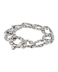 John Hardy - Metallic Kali Pebbled Flat Link Bracelet - Lyst