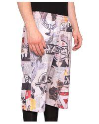 KTZ - Multicolor Newspaper Cotton Bermuda Shorts for Men - Lyst