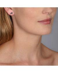 Hillier | Blue Silver Bunny Dot Earrings | Lyst