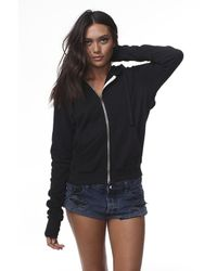 Spiritual Gangster | Open Back Zip Hoodie In Black | Lyst