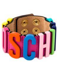 Moschino - Multicolor Logo Letter Bracelet - Lyst