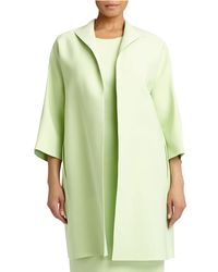 Lafayette 148 New York | Green Mary 3/4-sleeve Long Topper Jacket | Lyst