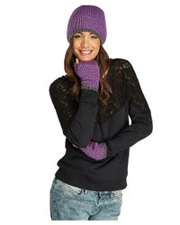 Threads For Thought - Purple Pop Stripe Fingerless Gloves - Lyst