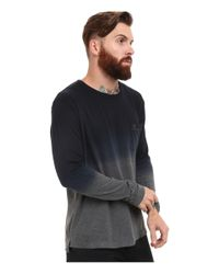 French Connection | Gray Wembly Dip Dye Long Sleeve for Men | Lyst