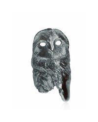 Dominique Lucas - Metallic Owl Ring Oxidised - Lyst